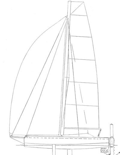 Adventure 600 Trimaran Outline View