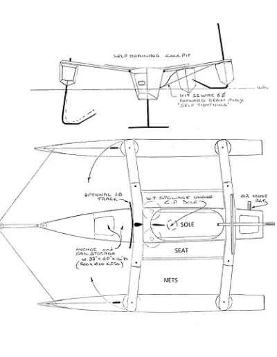 Adventure 600 Trimaran Plan View